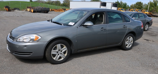08 Chevrolet Impala  4DSD GY 6 cyl  Started w Jump on 9/21/21 AT PB PS R AC PW VIN: 2G1WB58K48121253