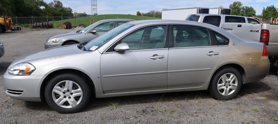 07 Chevrolet Impala  4DSD GY 6 cyl  Did not Start on 9/21/21 AT PB PS R AC PW VIN: 2G1WB58K979355717