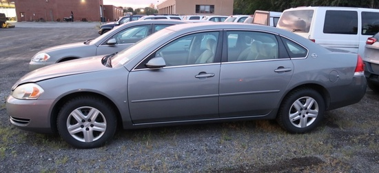 07 Chevrolet Impala  4DSD GY 6 cyl  Did not Start on 9/21/21 AT PB PS R AC PW VIN: 2G1WB58K279281198