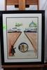 """Salvador Dali, Intra Uterine Paradisiac Locomotion, lithograph, 20-1/4"""" x 2"""