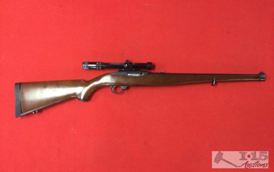 Ruger Model 10/22 Carbine  22LR With Mannlicher Stock and