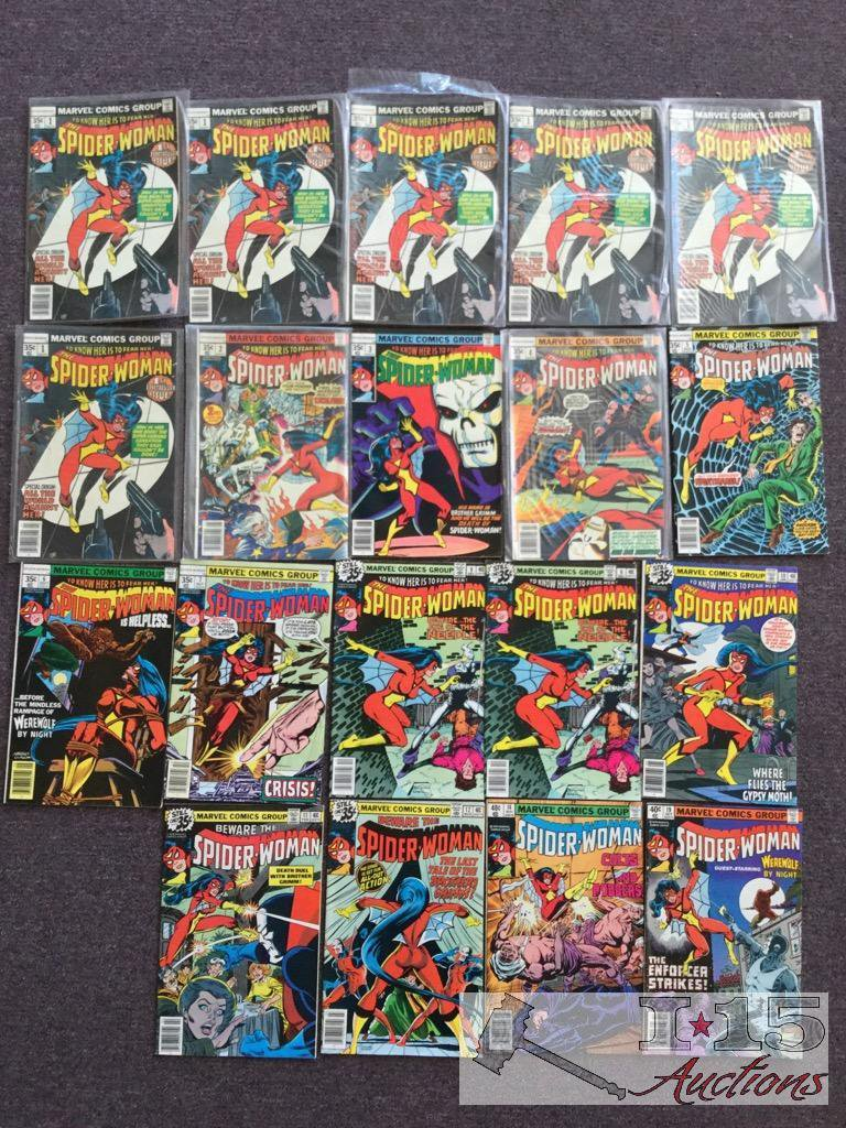 Marvel... 19 Copies of The Spider-Woman issue No. 1 - No. 19 Not Consecutive