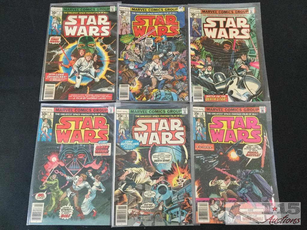 Marvel Star Wars Comic Books, Issues No. 1-6 Consecutive