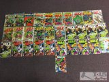Marvel... 31 Copies of The Incredible Hulk Issue No. 5 - No. 404 Not Consecutive