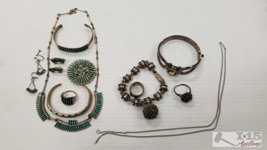 Misc. Silver Jewelry, Some Unmarked