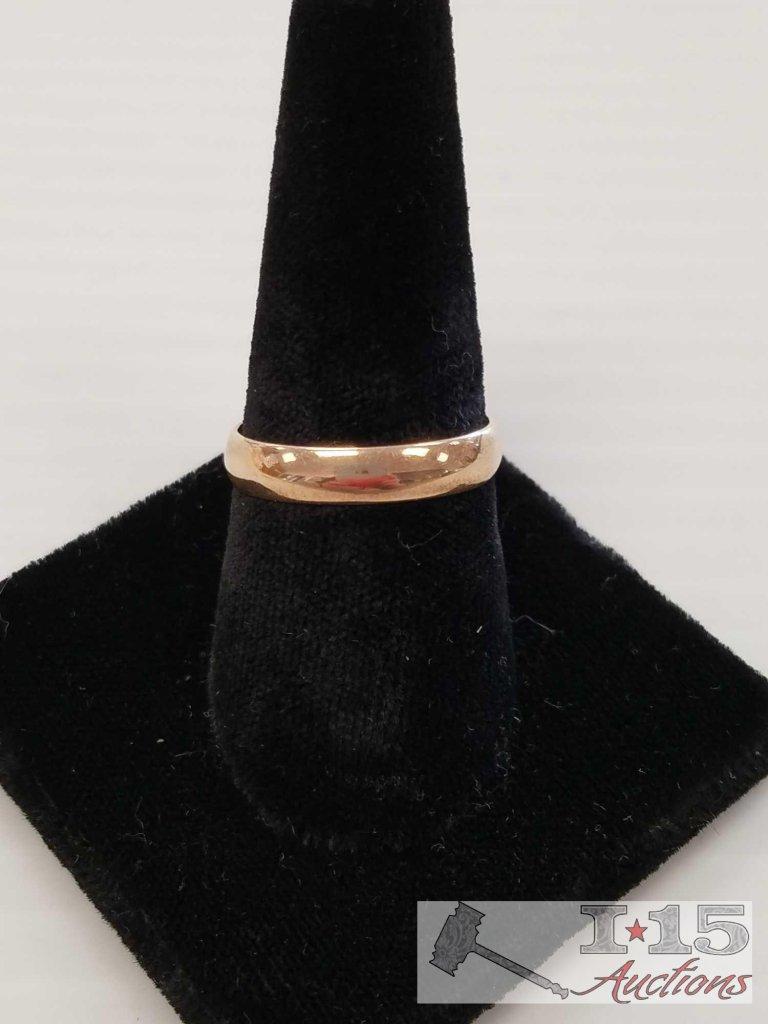 Men's gold ring size 9.5