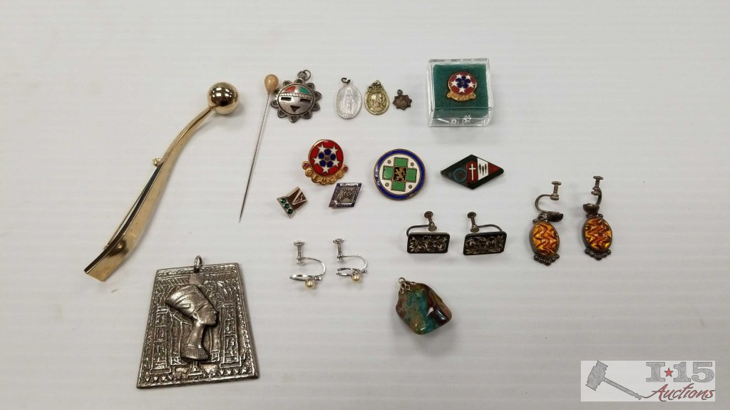 Misc. Earrings, Pendants, and Pins