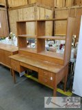 Vintage wood Desk with Hutch