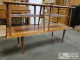 Vintage wood coffee table and end table set