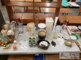 Glassware, candles, vases, candy dishes