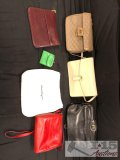 3 Salvatore Ferragamo purses, Bally purse, Morris Moskowitz purse