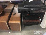 Large speakers with VCR, Radio and more