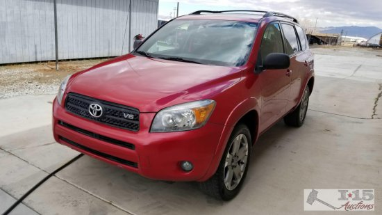 Just Added!! 2008 Toyota Rav4 Sport Red Current smog