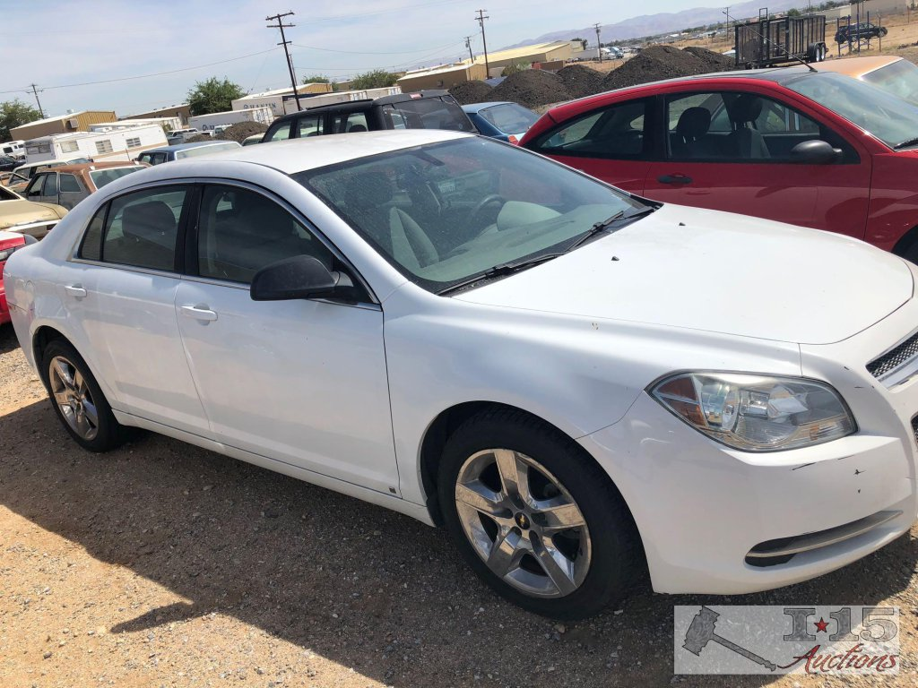 2009 Chevy Malibu White Cur Smog Clean Auto Report