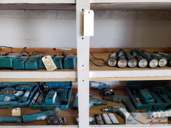 Makita Drills, Flashlights, Saws, Batteries, and Chargers