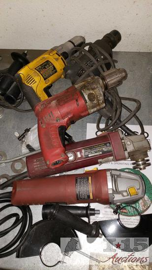 Milwaukee Drills, DeWalt Drills and Angle Grinders