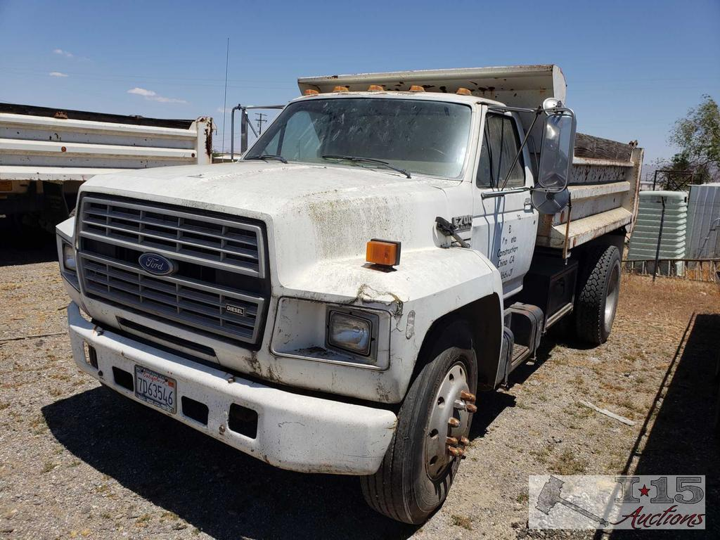 1990 Ford F700 Dump Truck with 10' Box, WATCH VIDEO!!!
