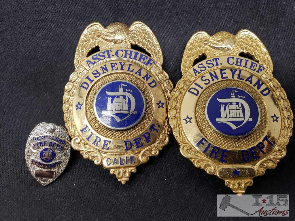 Disney Land Fire Department Badges