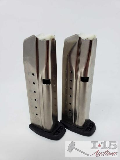 2 Smith & Wesson SD9VE 16 Round Magazines, Out of State or LEO