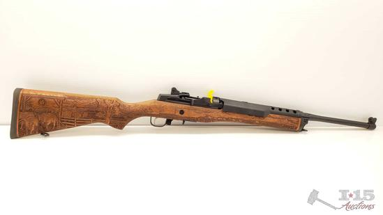 Ruger Mini 14 Ranch Rilfe 5.56 NATO, Engraved Hardwood Stock