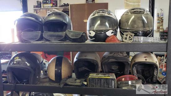 Harley Davidson, HJC, KBC, VP1 Helmets, Googles Belt and More