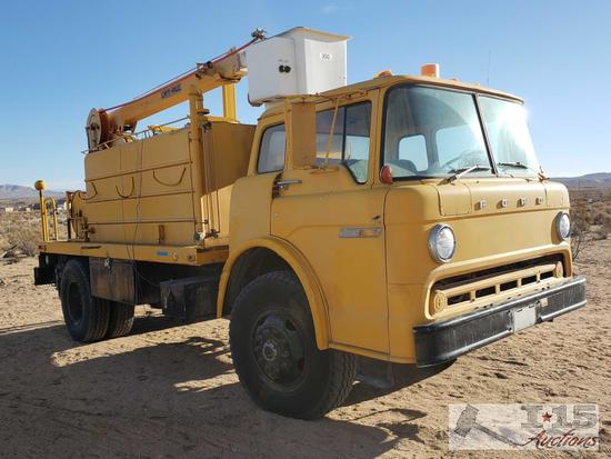 1981 Ford C8000 Bucket/Water Truck, See Video!!