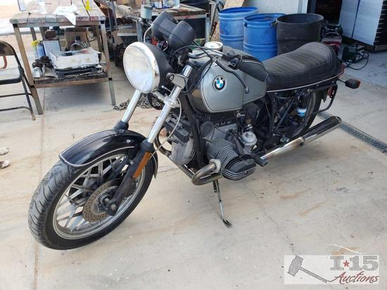 1982 BMW R100 Motorcycle, Running! See Video!