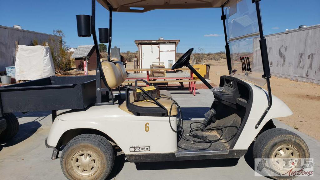 EZGO 48 Volt Golf Cart with Battery Charger, See Video!!