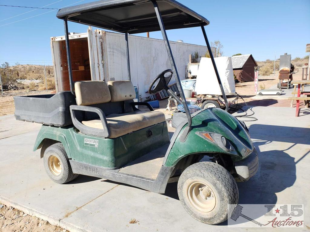 Yamaha 48 Volt Golf Cart with Battery Charger, See Video!!
