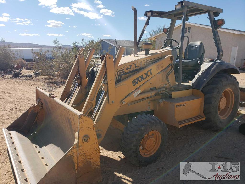 case 570lxt series 2 loader with gannon, 4 in 1 bucket