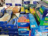 Approx 46 Boxes of Ziploc, Smart & Final, First Street, and Glad Reclosable Bags
