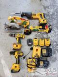 DeWalt Grinder, Circulating Saw, Reciprocating Saw, 2 Drills, and More