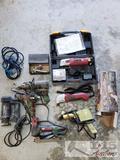 2 Chicago Oscillating Multi Tools. Heat Guns, Hot Glue Gun, Rotozip, and Craftsmen Staple Gun