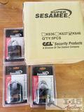 9 New Super Sesamee 4 Dial Heavy Duty Locks