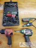 2 Air Impacts, 1 Electric Impact, and Craftsmen and Dremel Engraving Tools.