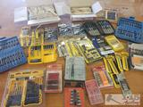 Drill Bit Sets, Power Bits, Screwdriver Bits, Engine Meter, and More