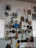 Tape, Cables, Bungee Cords, Screws, Clamps, Band Saw Blade, Cutters and More