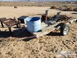 Small Flatbed Trailer with Misc Items
