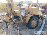 US Army Floodlight Set, Trailer Mounted