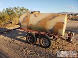 400 Gallon Water Tank on Trailer