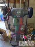 Baldor Grinder Model 8107W on Metal Stand, 2 Grinding Wheel Dressers. Works Well!