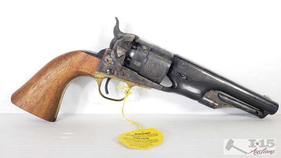Colt 1860 Army Model F1200 .44 Cal Black Powder Revolver, Original Box, Never Fired
