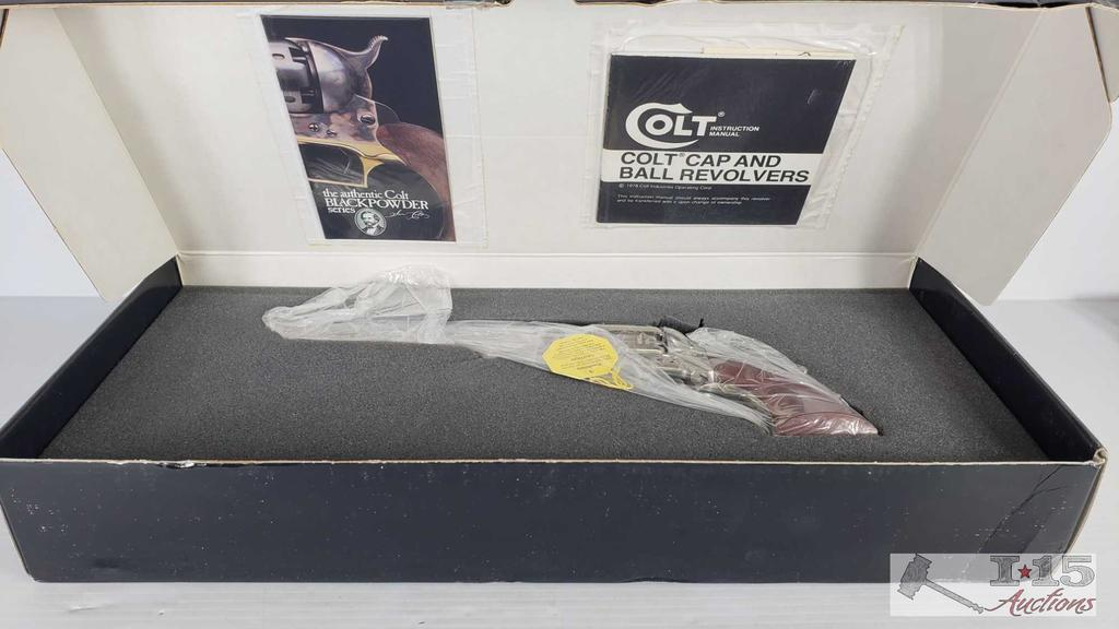 Colt 1851 Navy Model F1100 .36 Cal Black Powder Revolver, Original Box, Never Fired