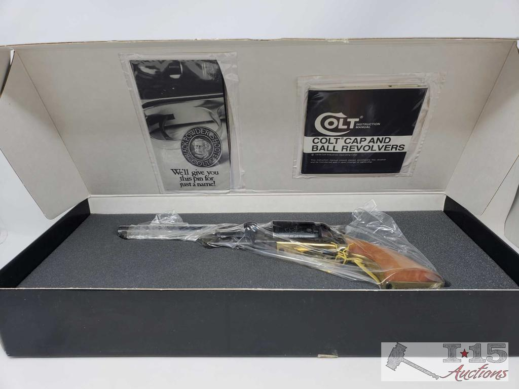 Colt 1st Dragoon Model F1700 Black Powder .44 Cal Revolver, Original Box, Never Fired