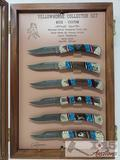 David Yellowhorse 6 Knife Collector Set in Display Case Serial Number 23