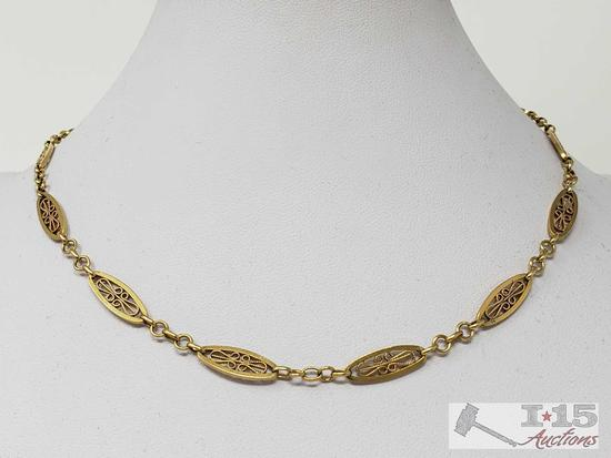 18k Gold Necklace 15.8g, 16""