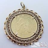 Round Pendent with 1971 300 Peso Coin 22.6g