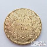 .900 Fine Gold 1858 French 20 Francs Coin in Case 6.5g