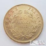 .900 Fine Gold 1853 French 20 Francs Coin in Case 6.4g