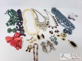 Necklaces, Clip On Earrings, Pins and Pendents